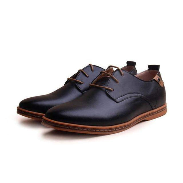 Causal Mens Leather Shoes - Comfortable!