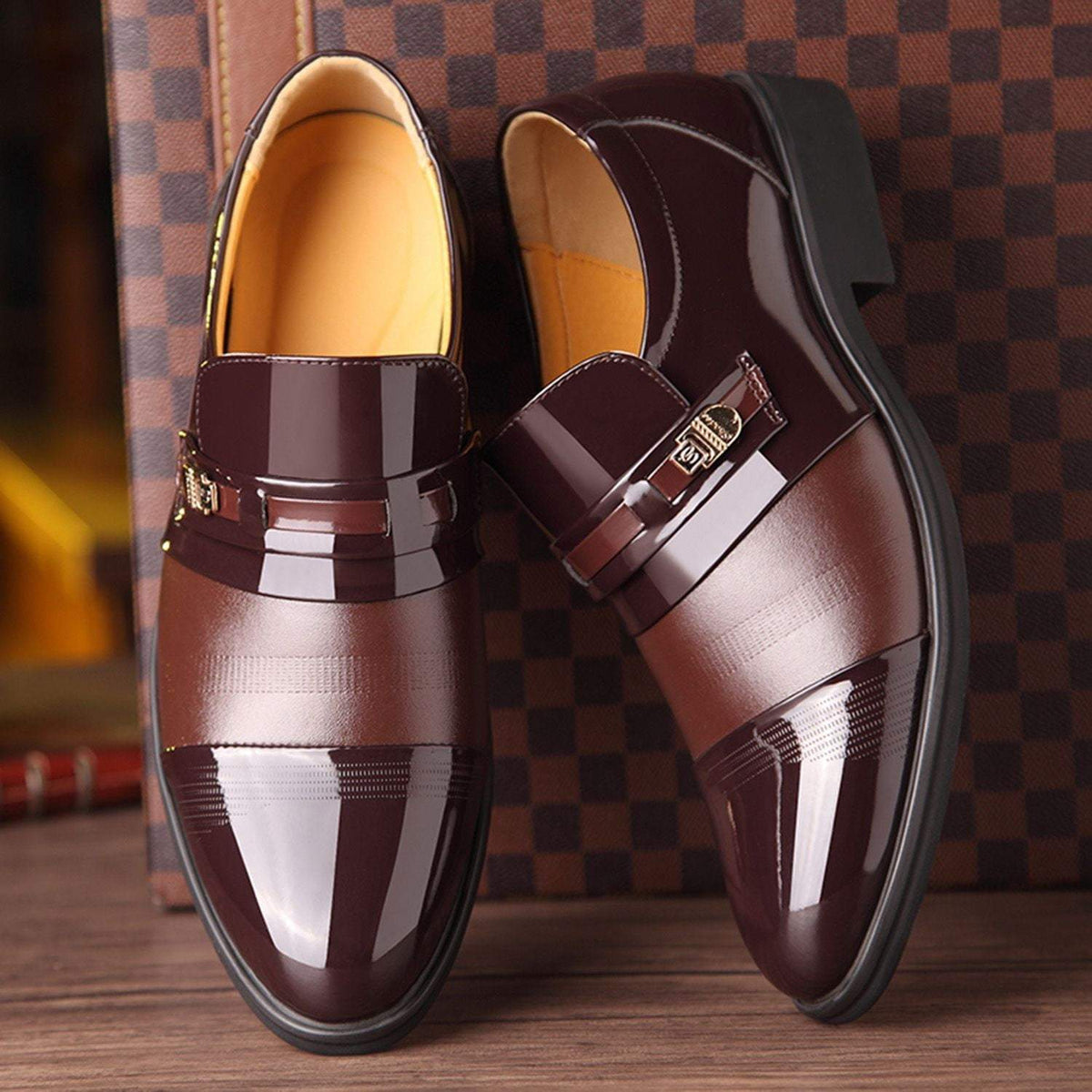 Mens Slip On Oxford Shoes
