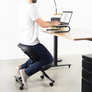 Black Adjustable Ergonomic Kneeling Chair