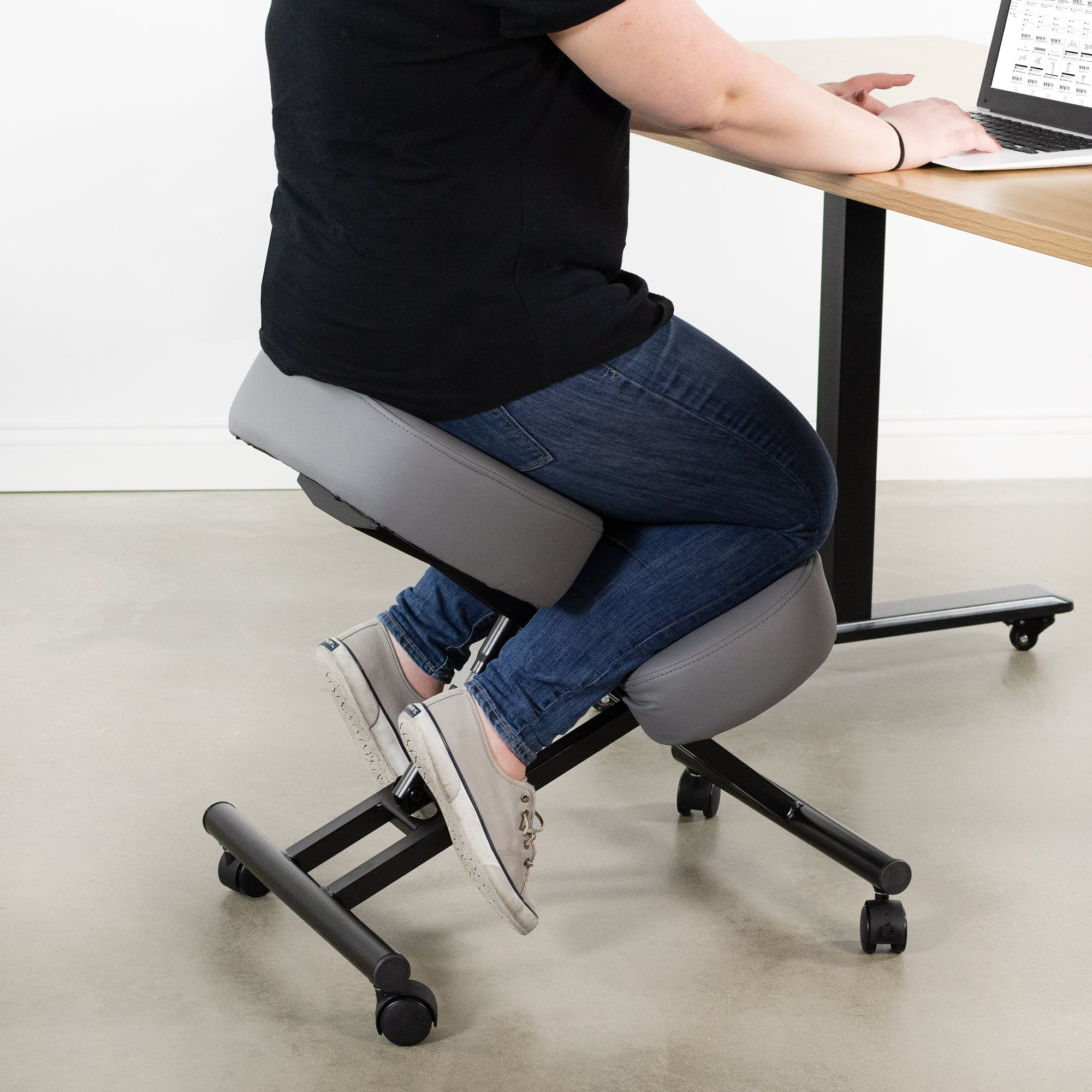 Gray Adjustable Ergonomic Kneeling Chair