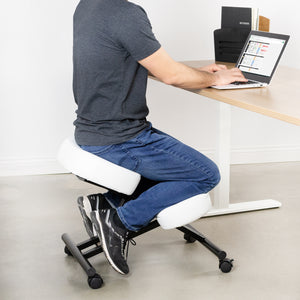 White Adjustable Ergonomic Kneeling Chair