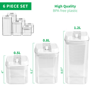 (6) Six Piece Food Container Set