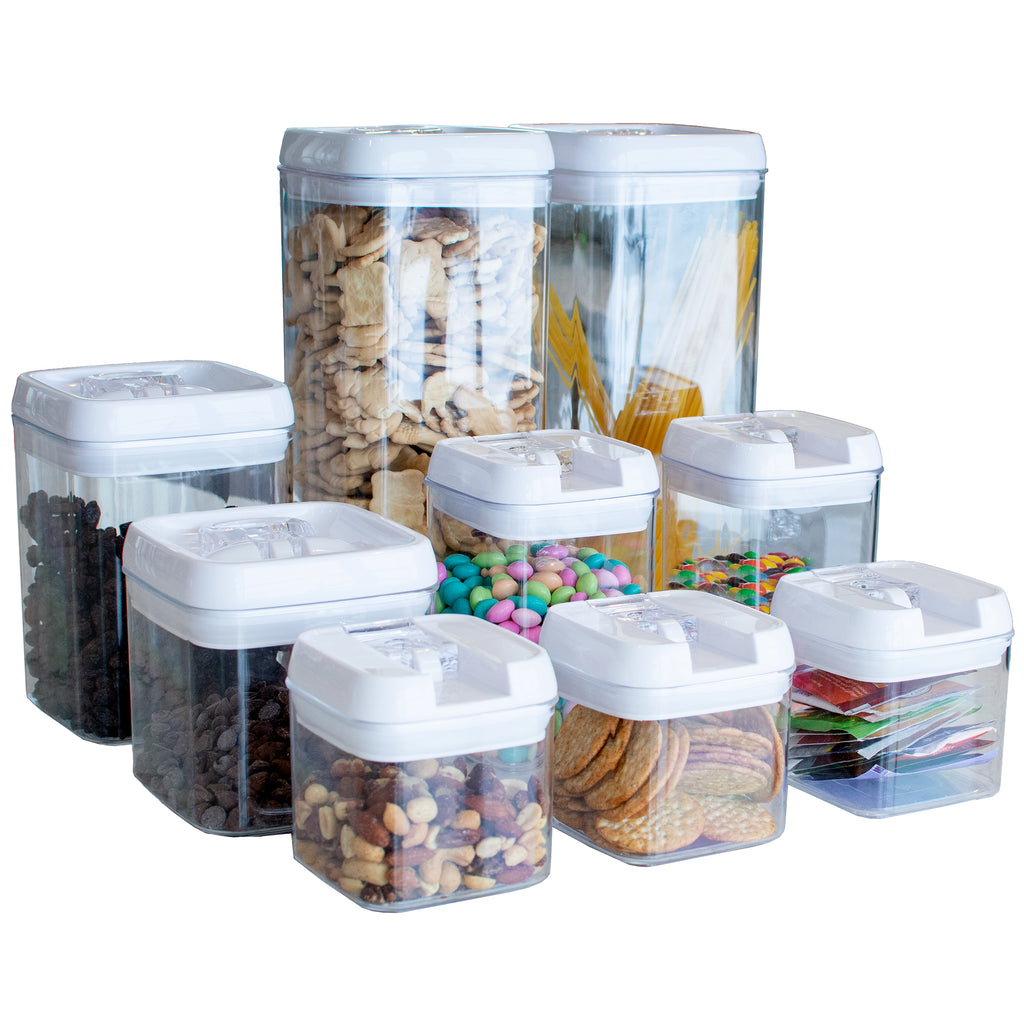 (9) Nine Piece Food Container Set with Labels