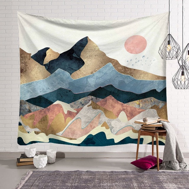 Over The Hills Tapestry