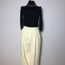 Load image into Gallery viewer, Vintage Corduroy Cream Trousers