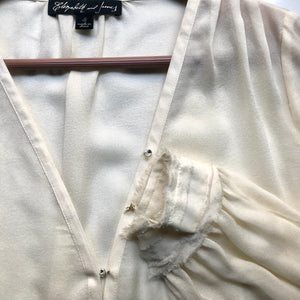 Elizabeth and James Ivory Silk Blouse