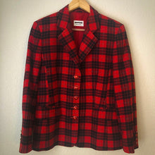 Load image into Gallery viewer, Vintage Hucke Plaid Wool Blazer