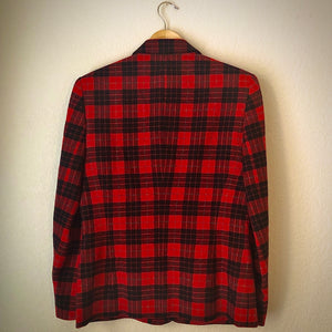 Vintage Hucke Plaid Wool Blazer