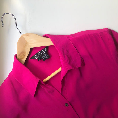 Vintage Ann May Silk Shirt