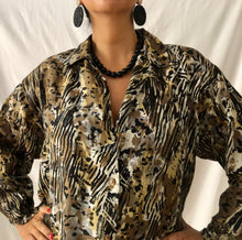 Load image into Gallery viewer, Oversized Vintage Silk Shirt