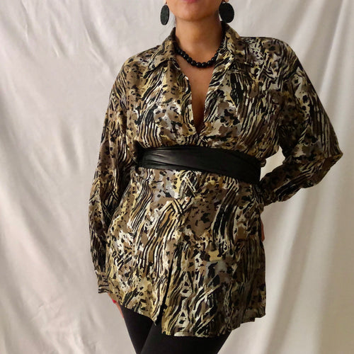Oversized Vintage Silk Shirt