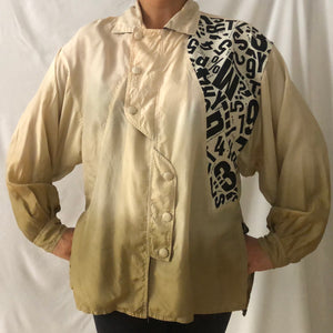 Vintage Ombré Effect Silk Shirt