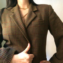 Load image into Gallery viewer, Vintage Plaid Wool Blazer