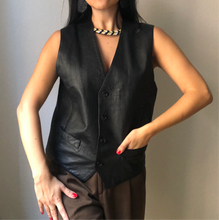 Load image into Gallery viewer, Vintage Leather Vest