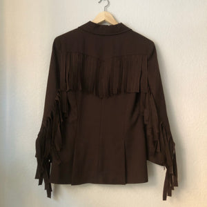 Fringe Wool Statement Blazer / Jacket