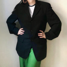 Load image into Gallery viewer, Vintage Pure New Wool Black Blazer