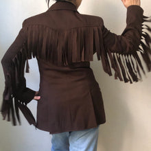 Load image into Gallery viewer, Fringe Wool Statement Blazer / Jacket