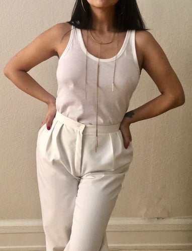 Vintage 80s White Trousers