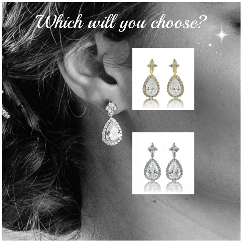 Silver or gold earrings, which are you going to choose for your wedding?