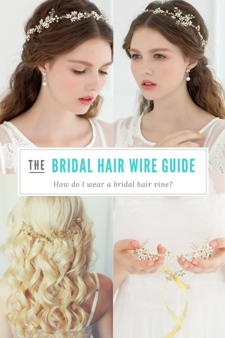 How do I wear a bridal hair wire?