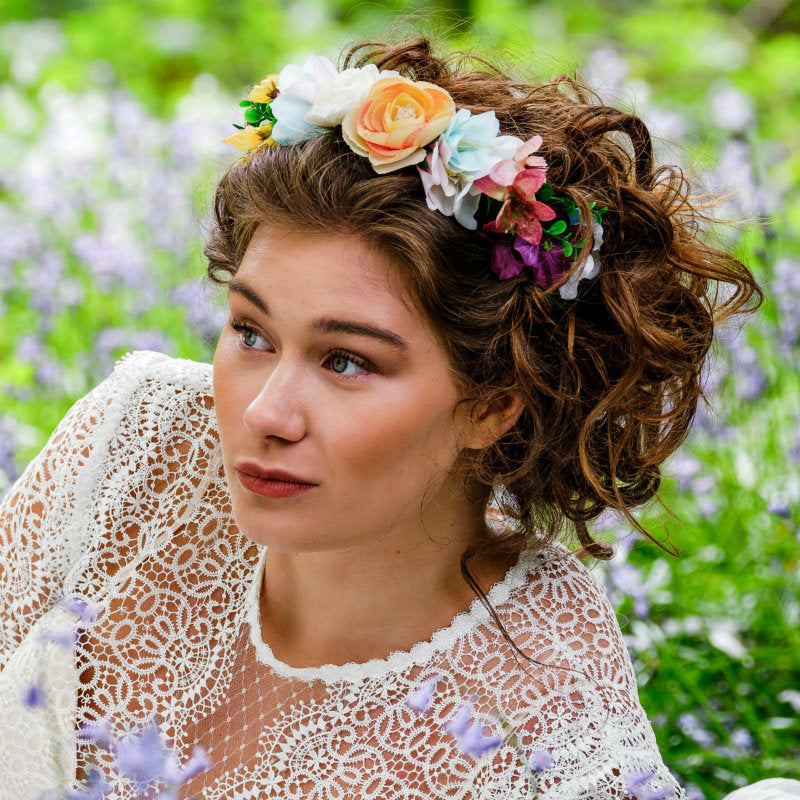 How do I wear a flower crown for my wedding?