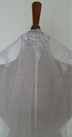 lace veil cathedral length