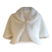faux fur jacket coat wedding ivory white