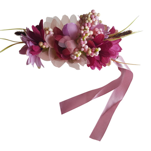 hair fascinator floral clip wedding hair accessories guest purple