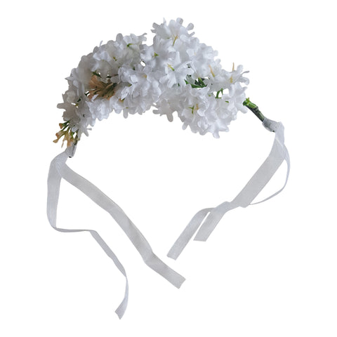 white gypsophilia flower crown floral hair clip