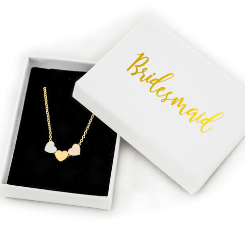 gold necklace wedding favours maid of honour bridesmaids