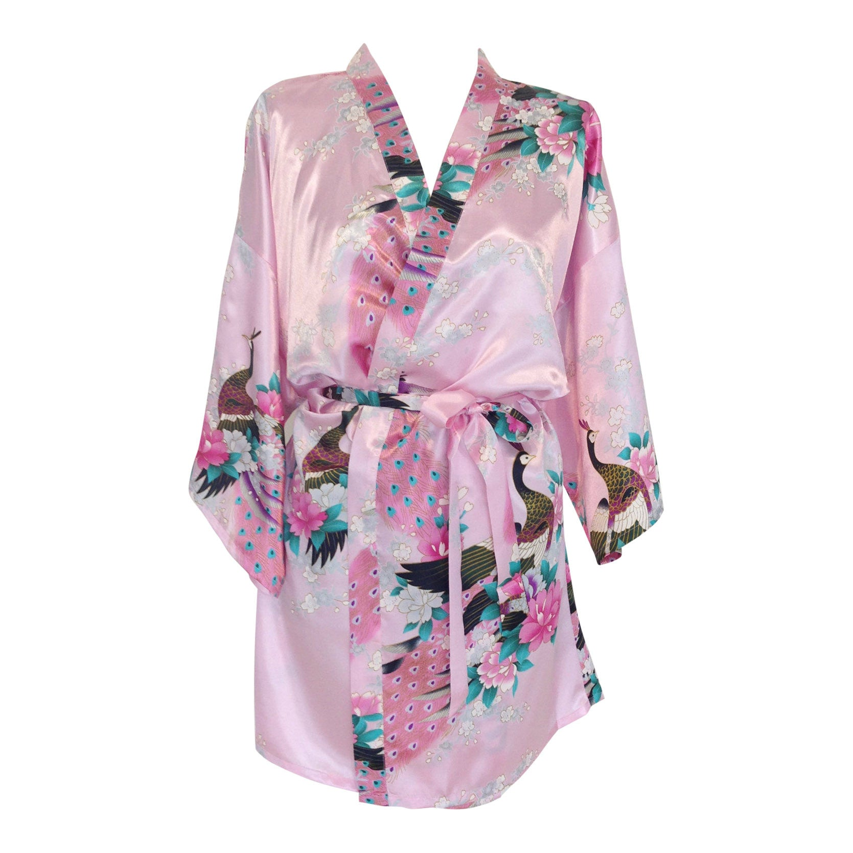 Satin Bride & Bridesmaid Dressing Gowns Kimonos Robes – The Bridal ...