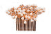 gold hair comb rose gold bride bridal bridesmaid wedding hair