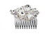 Silver Bridal Hair Clip Slide Wedding Hair Up Amelie