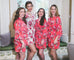 coral cotton bridesmaid robes dressing gowns
