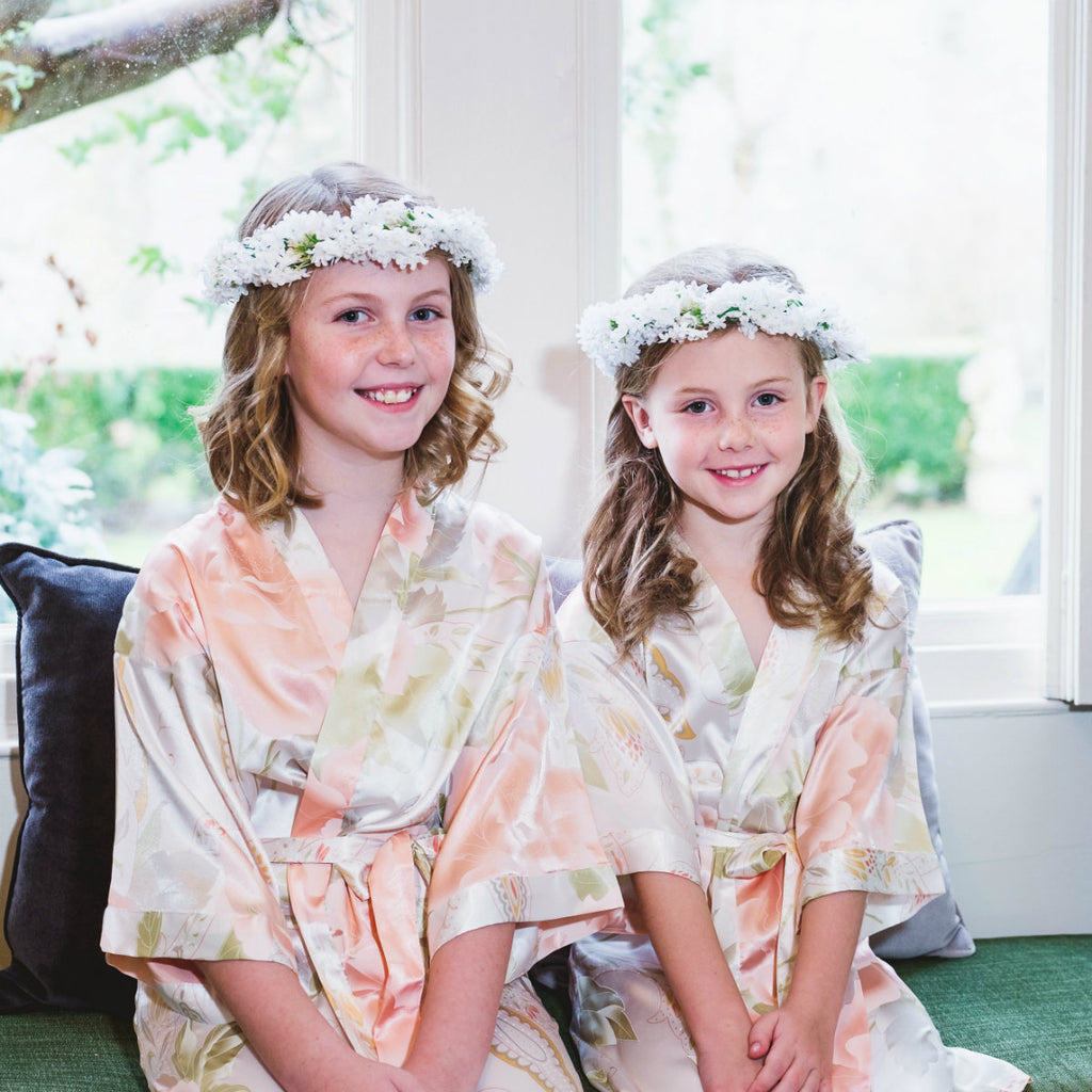 4abd83f8c0 Childrens Dressing Gowns ivory bridesmaids flower girls – THE BRIDAL ...