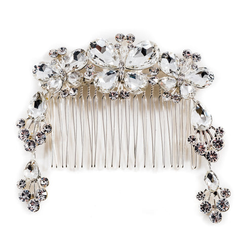 Butterfly Bridal Hair Comb Silver