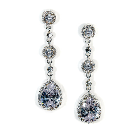 Teardrop Bridal Earrings Crystal Cali