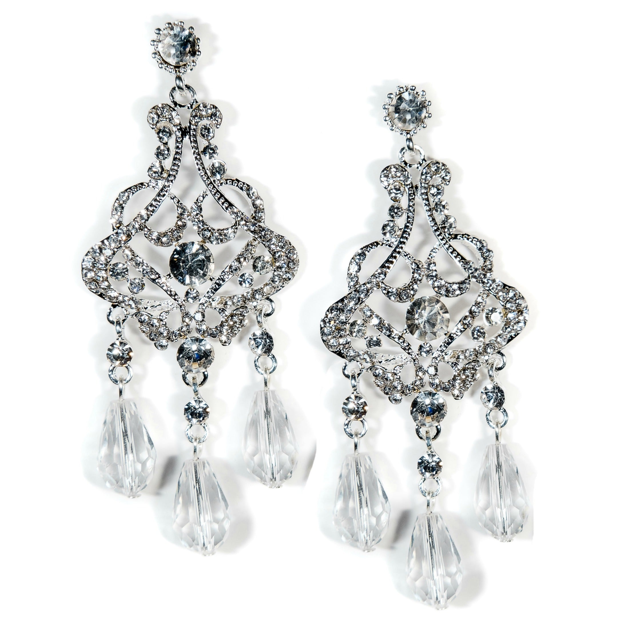 Callista bridal earrings crystal chandelier silver the bridal outlet bridal earrings chandelier crystal callista arubaitofo Gallery