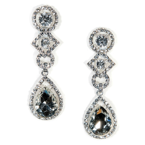 Bridal Drop Earrings Crystal Carly