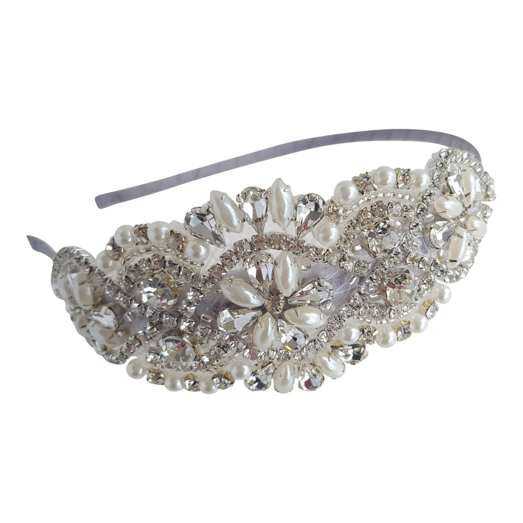 silver vintage head piece hair band bridal hair accessories