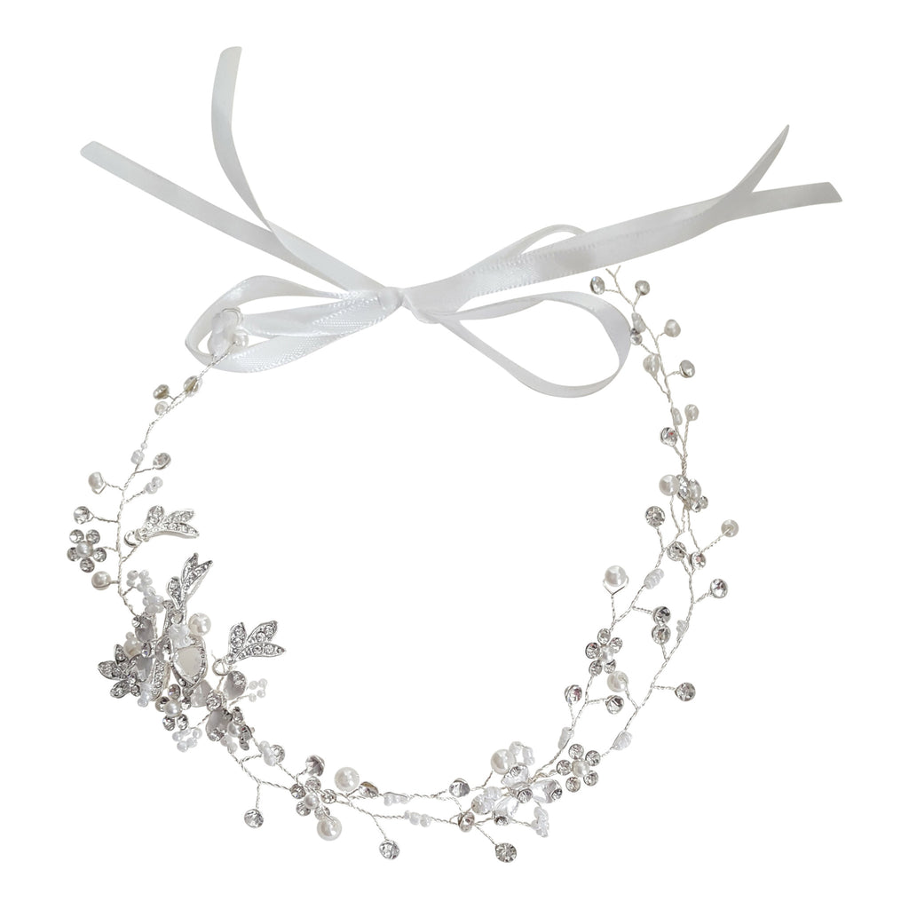 hairwire bridal bridesmaid silver wedding headpiece