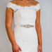 sparkle and pearl bridal belt wedding dress