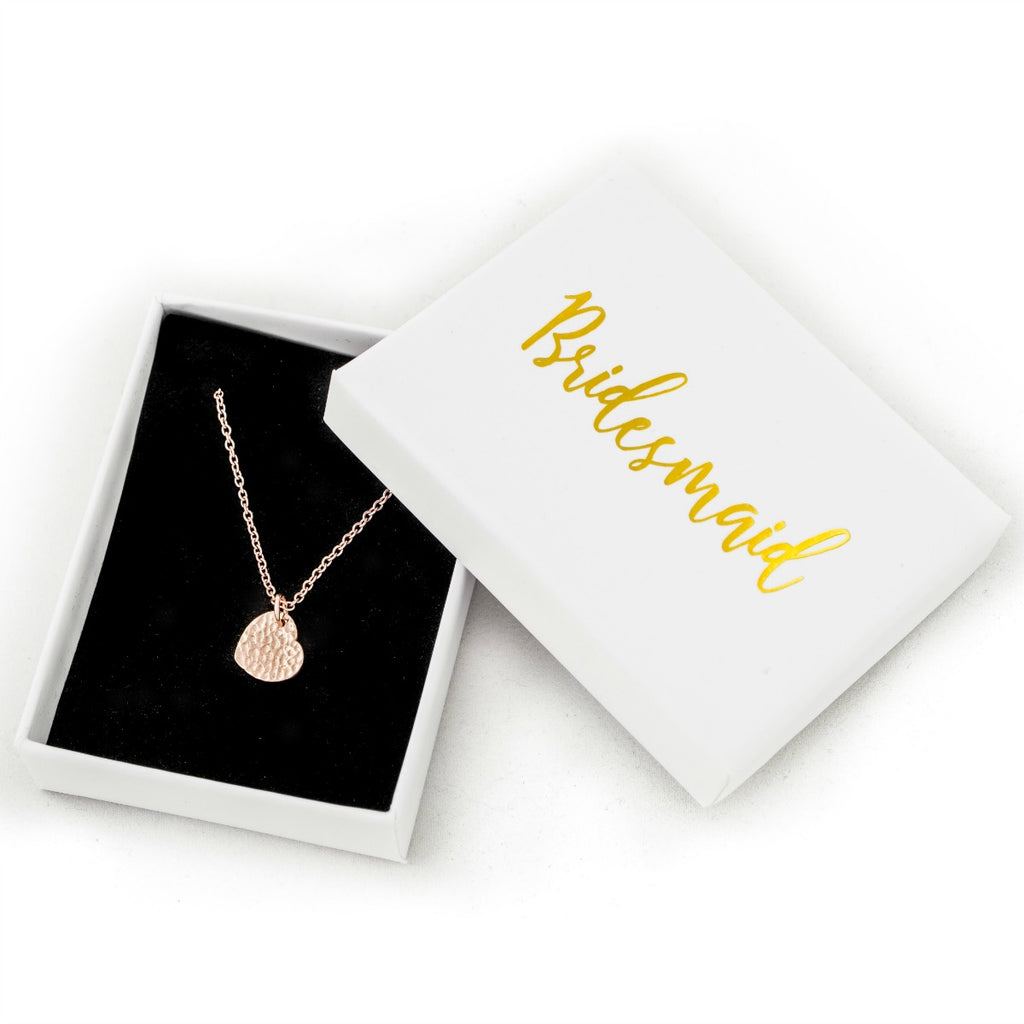 rose gold necklace as bridesmaid gift bridal party favours