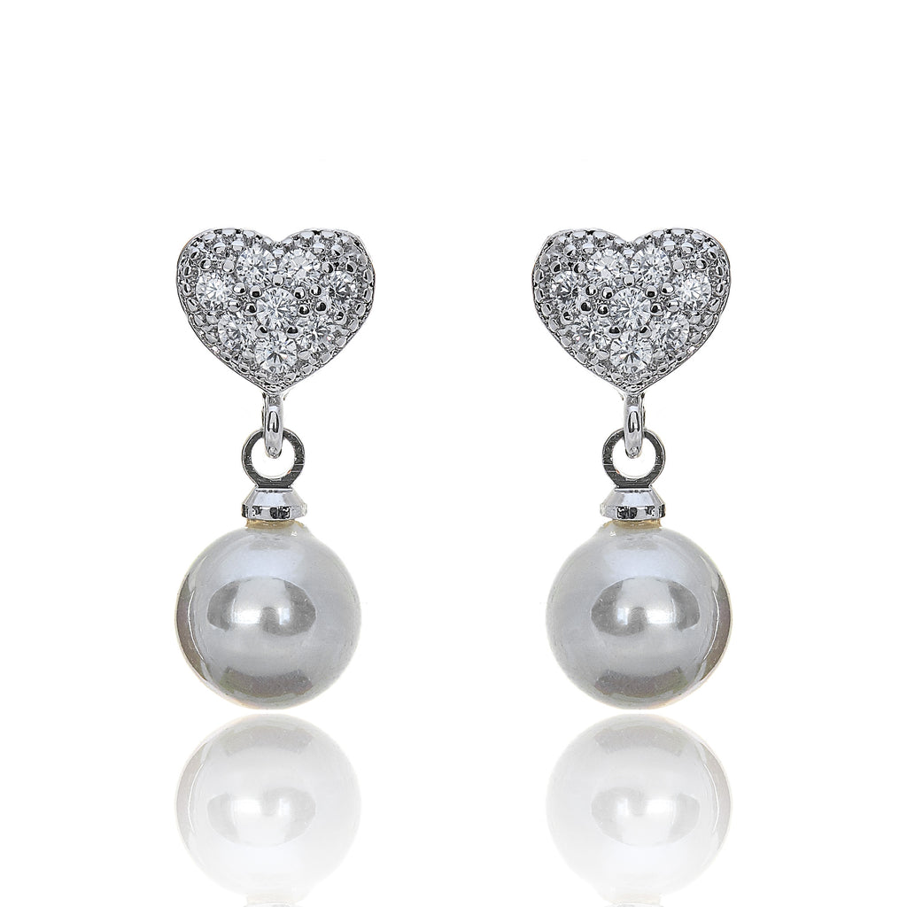 pearl drop vintage bridal earrings
