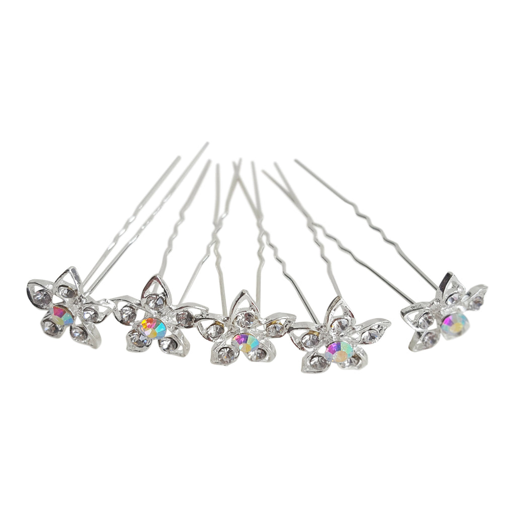 bridal hair pins diamante small