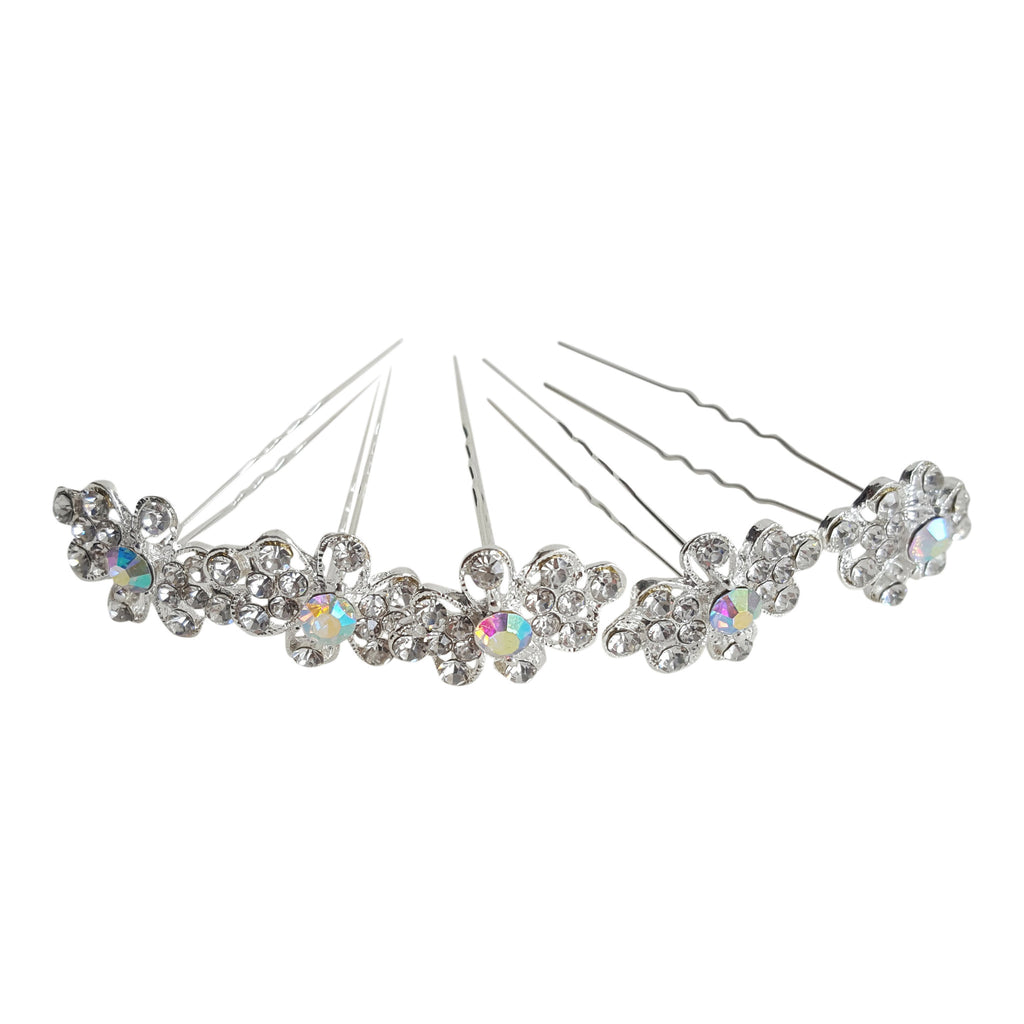 bridal hair pins diamante sparkle