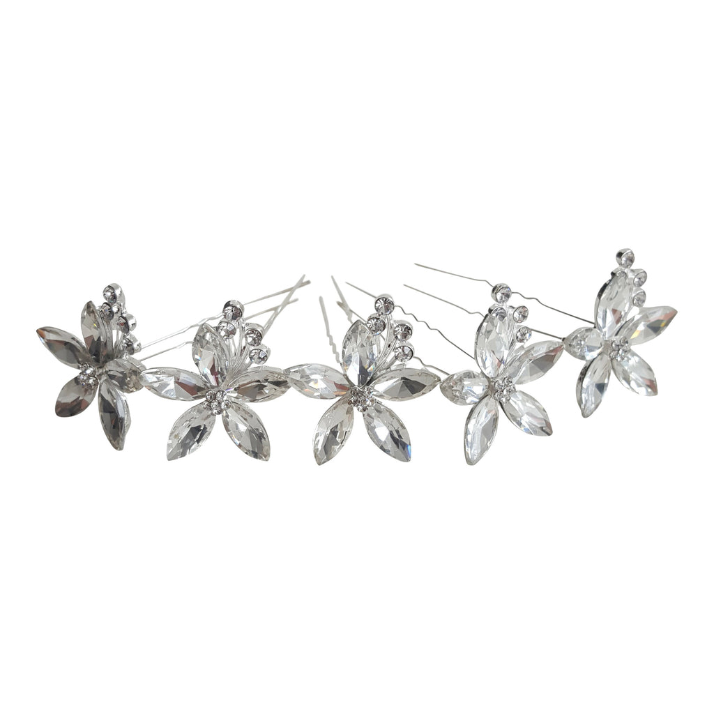 large bridal hair pins crystal diamante