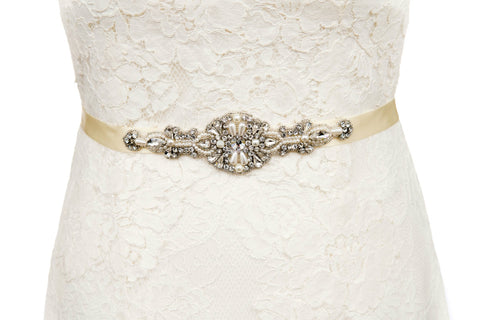 thin,wedding dress belt,sash,ivory,ribbon