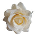 cream hair flower corsage brooch
