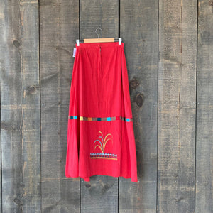 Vintage Mexican Hand-Embroidered Skirt